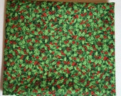 Windham Paper Doll Christmas Holly in Green 30863-4 cotton fabric By the Yard
