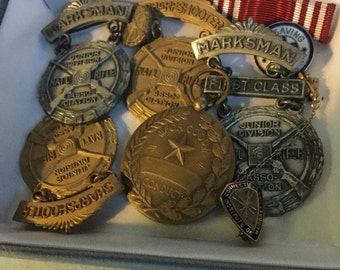 Lot of Medals Vintage Marksman Plus