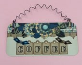 COFFEE SIGN  | Cute Metal Sign | Coffee Bar | Kitchen | Break Room Lounge | Snack Bar | Latte Cappuccino Espresso Macchiato  Java