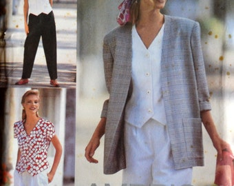 Vintage  Jacket Shorts and Blouse Sewing Pattern Simplicity 8239 Misses' American Classics Bust 34-38 inches Complete Uncut