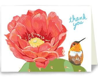 Thank You Hummingbird - Box of 8 cards