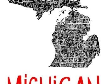 Michigan county print