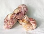 BISOU, 8 ply twist hand dyed sock yarn