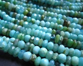 6 1/2 inches of Peruvian Opal faceted rondelles - stone beads - 5mm X 3mm