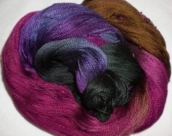 Handpainted 5-2 Egyptian Cotton Yarn    WILD FLOWERS-525 yds.