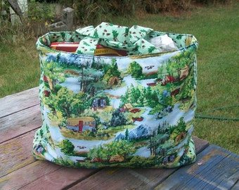 Camping Tote Bag Reusable Grocery Bag  shopping Bag Ready to Ship