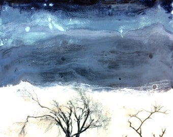 original encaustic painting- 14 x 14 inch Wax Storm