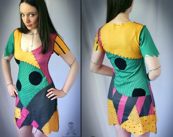 Nightmare Before Christmas Sally ragdoll dress CUSTOM smarmyclothes halloween costume