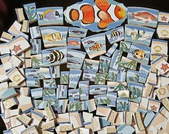 Mosaic Tiles 150 FISH FRY #3 Nice Sizes broken China mosaic Tile