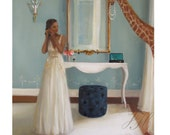 Lady In Waiting. Art Print