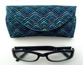 reading glasses case - eyeglass case - sunglass case - Magnetic Clasp - Plume