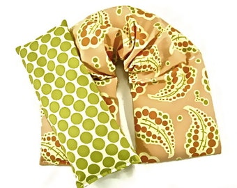 Herbal Neck Wrap, Heat Pack,Eye Pillow Set, Microwaveable,Hot/Cold Therapy, Holiday Gift Guide