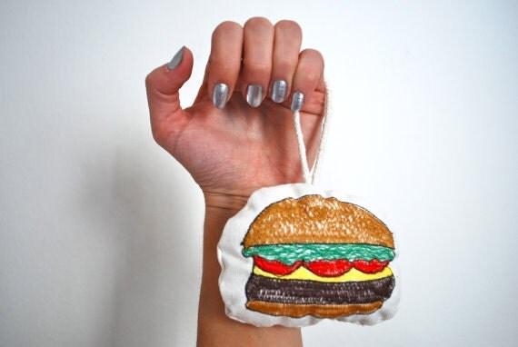 Burger - Original Stitch Art Ornament