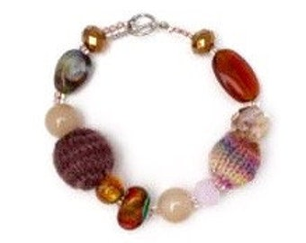 Knitted and Beaded Bracelet