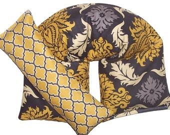 CORN Heating Pad, Hot Cold Pack Gift Set, Wrap and Eye Pillow Mask - READY to SHIP