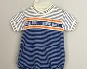 Vintage Healthtex Baseball Onesie Size 9-12 months