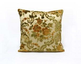Luxury Pillow Cover, Velvet Cushion Cover, Shabby Chic Decorative Pillow, Velvet Sham, Roses Decor, Handmade by EllaOsix