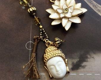 prayer beads buddha lotus yoga style boho beads