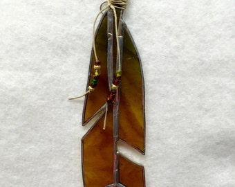 Stained Glass Sun Catcher - Feather