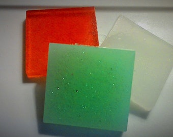 Glycerin Soap   2 ounces  soap with scrubbing mit  Choose: Cinnamon Candy, Gingerlilly, or Eucalyptus Mint