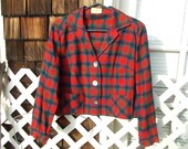 Vintage Ladies Pendleton 49 ER jacket rare Shortie Style 40s 50s Bust 42 44