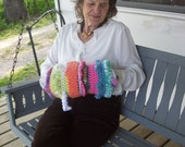 Twiddlemuff,Crocheted,Dementia,Seniors,Hands,Visual,Stimulating,Handicapped,Double Sided