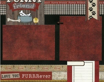 Furry Friend - Premade Dog Scrapbook Page