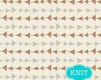 KNIT fabric, Cotton Jersey Knit fabric by Art Gallery Fabrics, Arrow Fabric, Stretch fabric, - Follow Me in Moonlight