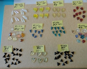 Choose your Vintage Glass Stones 4 to choose from VL 81