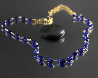 Blue Sapphire Necklace - MADE TO ORDER - Blue Sapphire - Customer Favorite Things