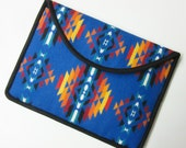 "13"" Macbook Pro Laptop Cover Sleeve Case Southwest Blanket Wool from Pendleton Oregon Sapphire Blue"