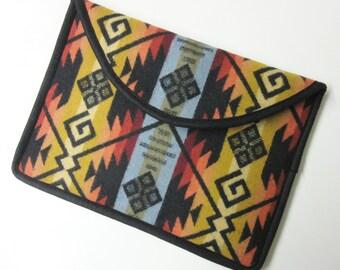 "13"" Macbook Pro Laptop Cover Sleeve Case Blanket Wool Southwest Print Wool from Pendleton Oregon"