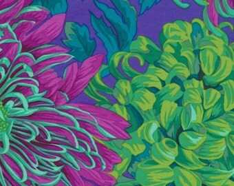 "FAT QUARTER FQ121 Philip Jacobs Chrysanthemum Green PJ41 Precut 18""x22"" Fabric Cotton Quilting Westminster"