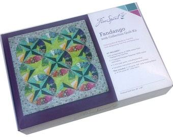 "Free Spirit FANDANGO Quilt Kit Fabric Pattern 68"" x 68"" Tula Pink KITQTTP.FANDA"