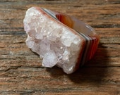 SPECIAL 75% Off SALE Dara Ettinger DARA Full Stone Druzy Geode Ring in Rust sz 8 see coupon