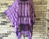 Plus Size Lightweight Rayon Hand Painted Tunic