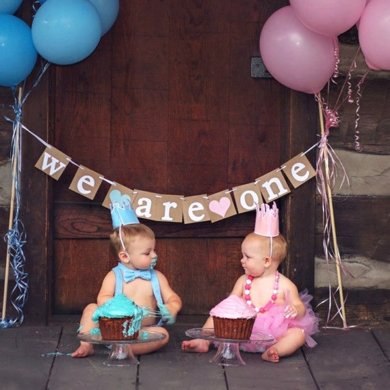 Picture Ideas With Twins: Twins Banner Boy & Girl Twins BannerWe Are One Banner Baby
