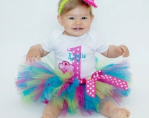 Cupcake First Birthday Outfit - 1st Birthday Girl Outfit - Baby Girl Tutu