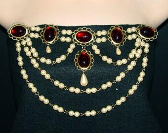 Renaissance Bodice Jewels, Medieval Bodice Jewels, Medieval Jewelry, Renaissance Jewelry, U PICK Colors, Tudor Jewels, Lady Grace Bodice