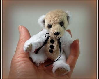 Buddy - On Sale, Miniature, Teddy Bear, Handmade, Plushie, Stuffed Animal, 4.5 Inch