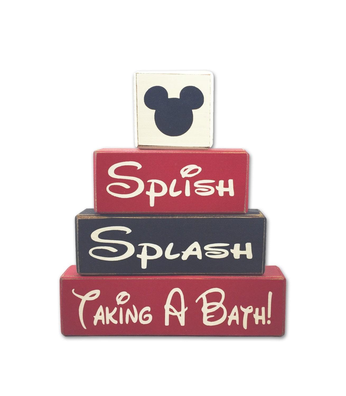 Mickey mouse bathroom decor splish splash taking a bath disney - Disney mickey mouse bathroom decor ...
