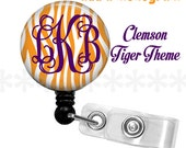 Personalized ID reel with MYLAR covering......Add a Monogram, tiger stripe
