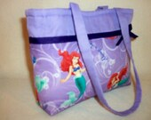 Little Mermaid Boutique SALE 16% off Girls Toddler Tiny tote purse handbag youth fun add a name to make it special