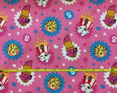 "NEW shopkins cotton lycra knit fabric 96/4 58"" wide."