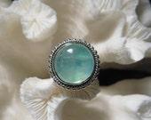 Beautiful Iridescent Moonstone  Ring Size 8.25