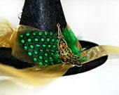 Holiday Ornament - Witch Hat - Emerald City- Christmas Ornaments - Gifts under 15