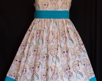 Disney FROZEN Elsa Sun Jumper Dress Custom Size