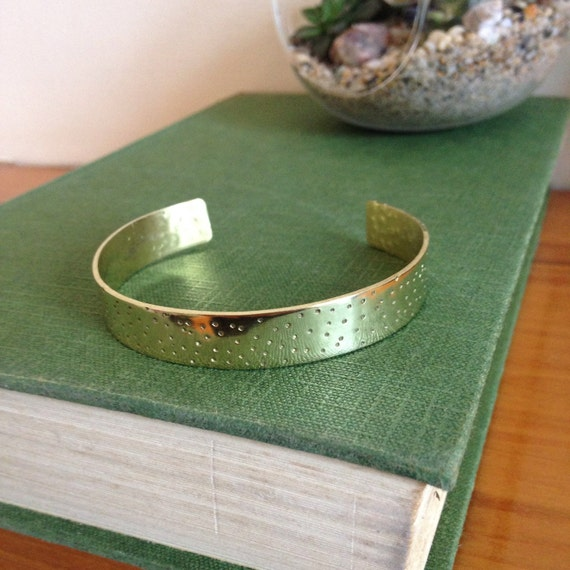 Brass Spotty Adjustable Cuff in Brass - Simple - Modern - Geometric - Festival - Gypsy - Dots - Stacker - Stacking - Frida Kahlo - Gold