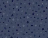 Be strong, Be brave- Dark denim tonal-Stars- Quilting Treasures , Cotton fabric,  Quilters Cotton, Fabric, By the yard.