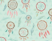 Dream Catchers- Blue by Studio E Fabrics - Native American- Cotton Fabric- Quilt- Garment Fabric-Sewing-Fabric-Flat Rate Shipping in the US.